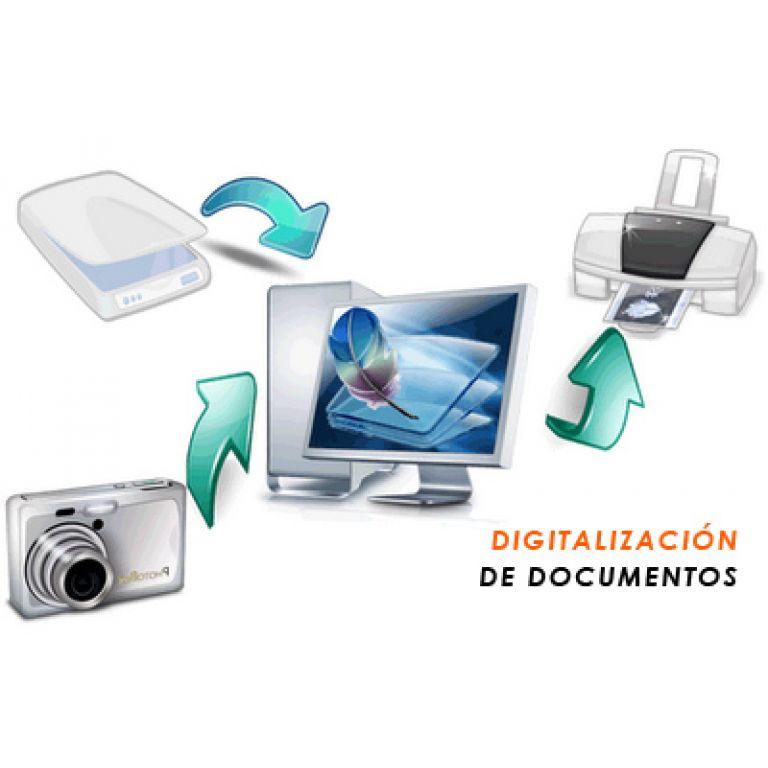 La digitalización de archivos.