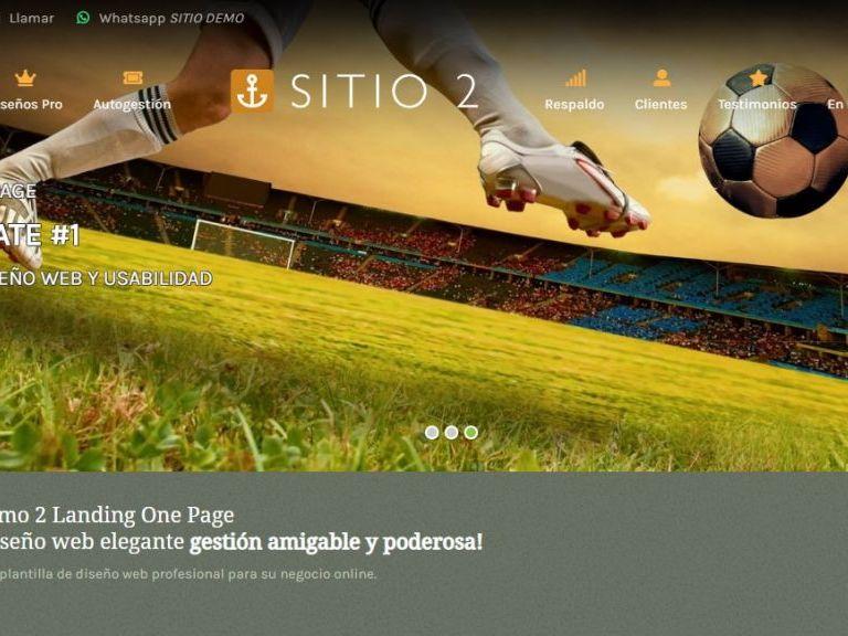 LANDING 2 . Template de diseño web landing page