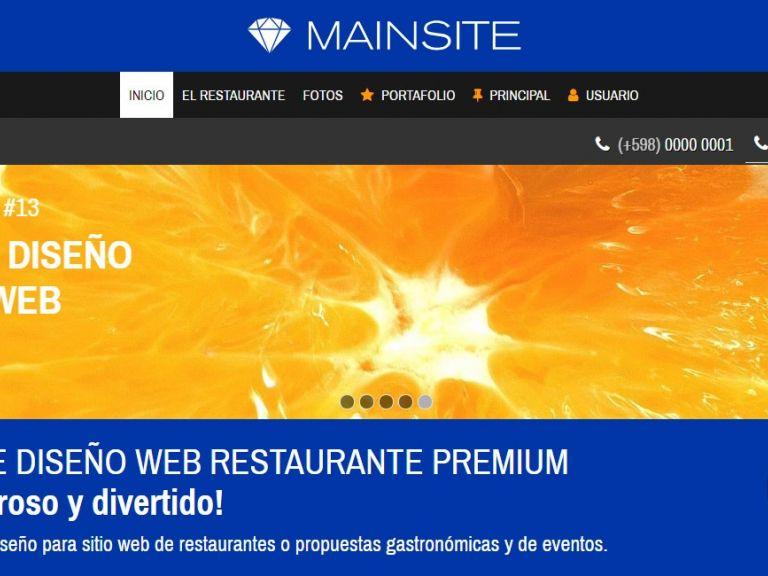 Diseño de sitio web para restaurante y presentación de menú. - RESTAURANTE 13 . Diseño sitio web institucional