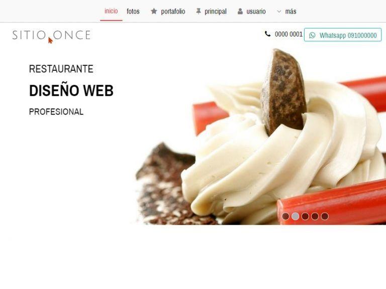 Diseño ejemplo de sitio restaurante. - RESTAURANTE 11 . Diseño sitio web institucional