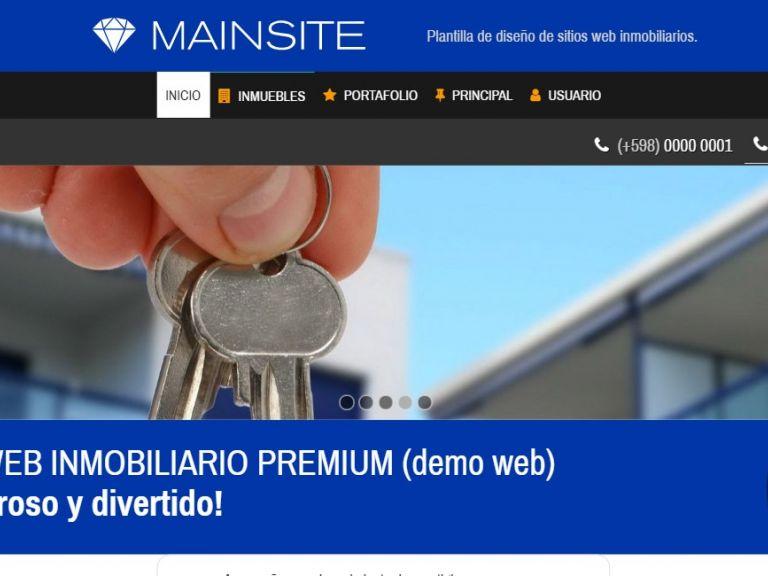 Diseño web inmobiliaria online. - DEMO 13 . Sitio web inmobiliaria
