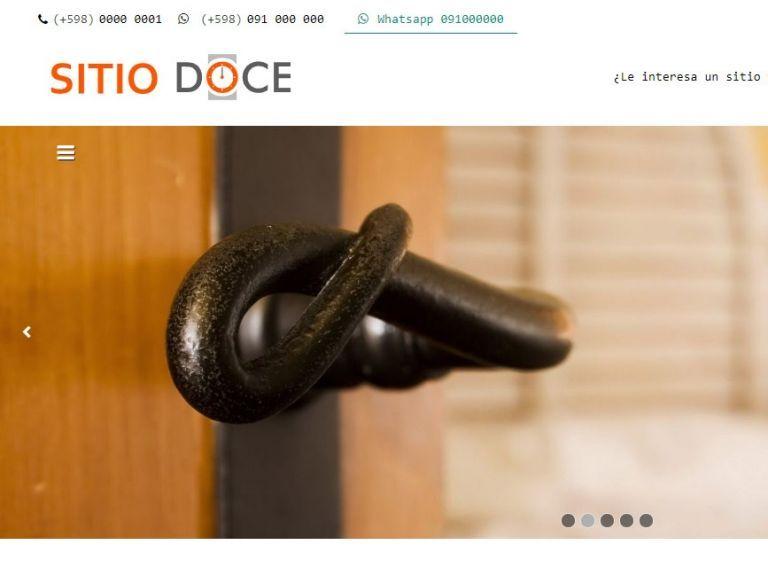 Ejemplo de diseño web demo template para página web de hotel alojamiento. - HOTEL 12 . Diseño sitio web institucional