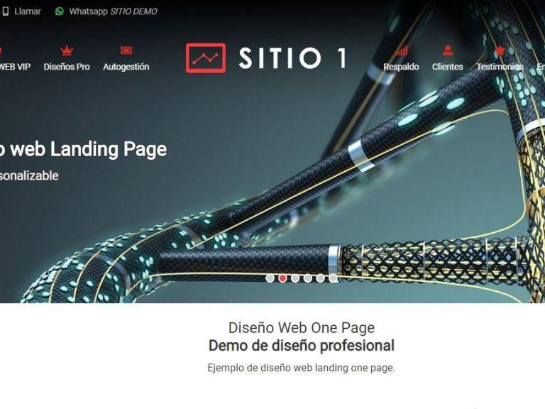 Ejemplo diseño web landing one page. - LANDING 1, Diseño sitio web landing page