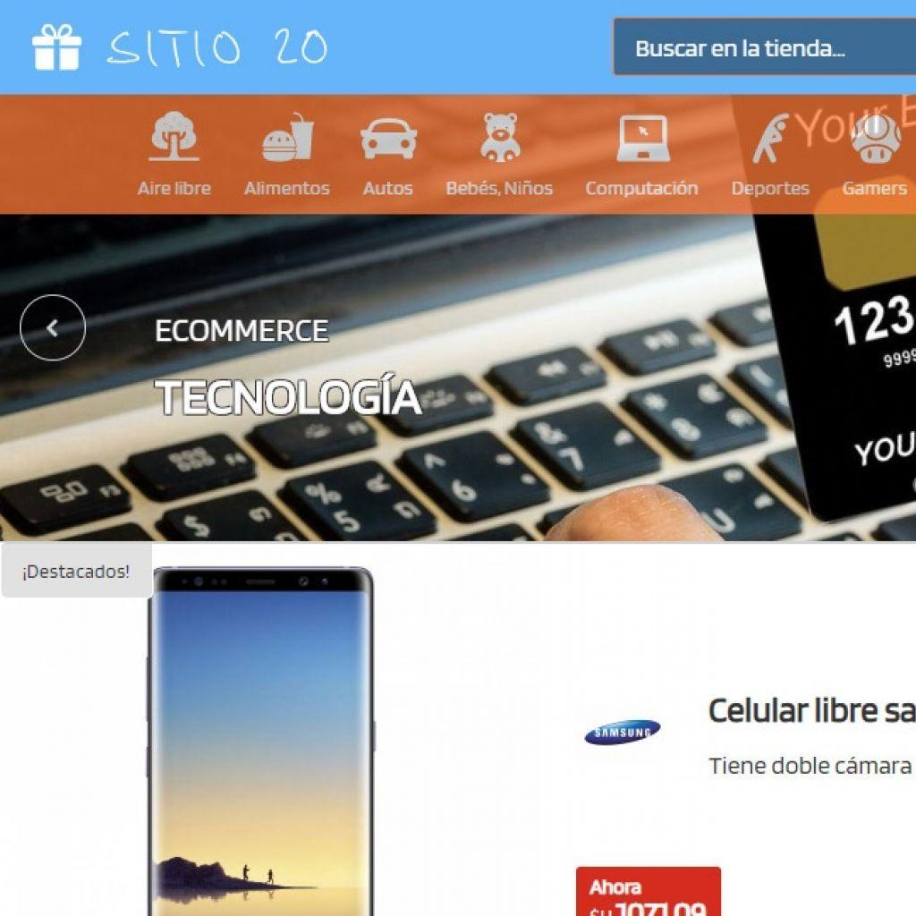 Ejemplo tienda virtual web 20.