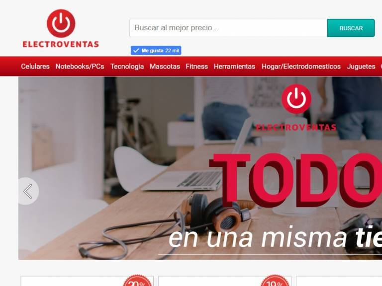 Diseño de Tienda online de productos informáticos y computación - Electroventas