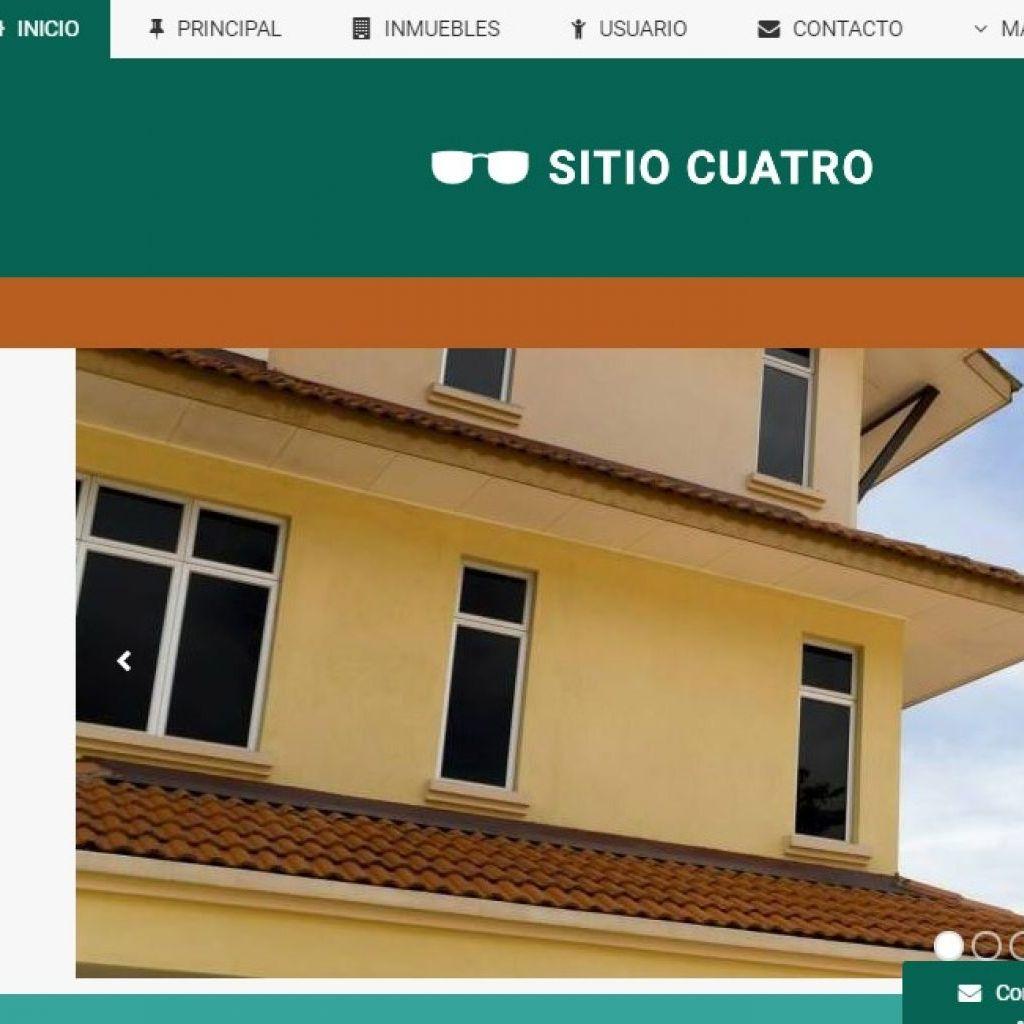 Opción de diseño de sitio inmobiliario.