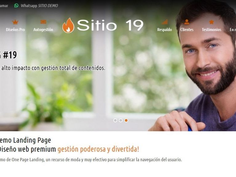 Sitio web 19 para crear landing page. - LANDING 19 . Template de diseño web landing page