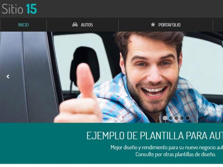 Automotora ejemplo página web 15. - AUTOS 15 . Diseño sitio web automotora rentadora