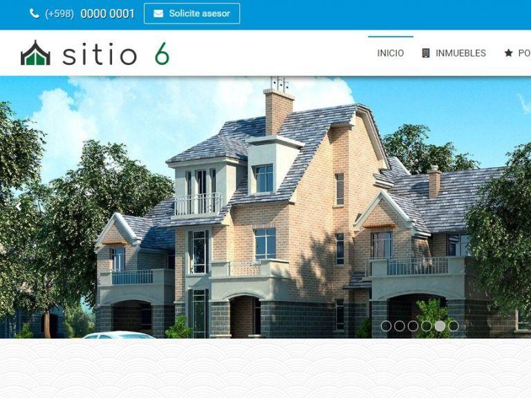 Plantillas y Ejemplos de diseño web para inmobiliarias. Software inmobiliario con diseño web superior. - DEMO 6 . Sitio web inmobiliario