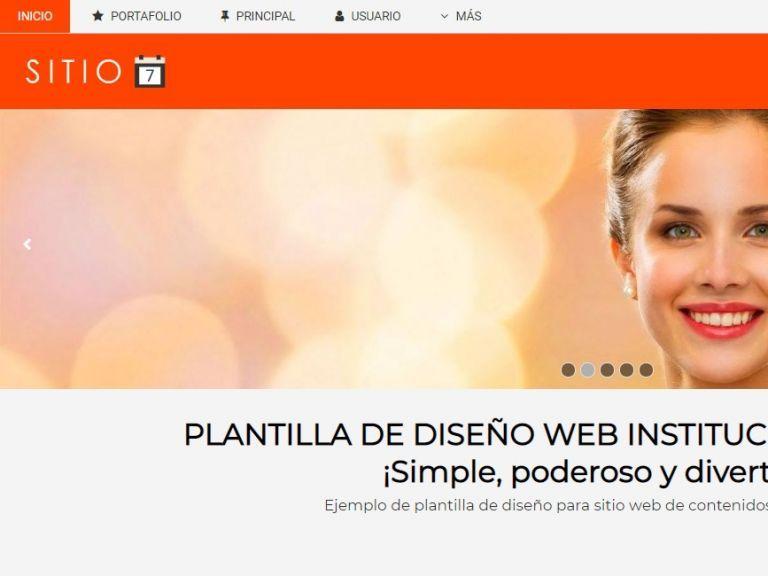 Demo de sitio web institucional y contenidos #7. - INSTITUCIONAL 7 . Diseño sitio web institucional