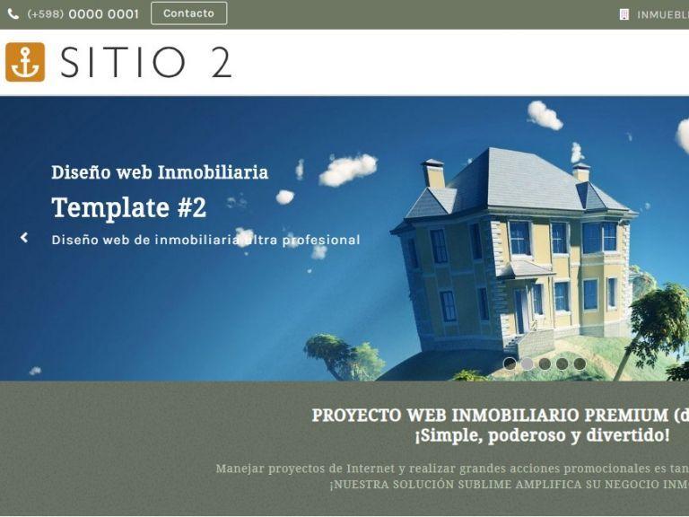 Opción de diseño web inmobiliario.  - DEMO 2 . Sitio web inmobiliario