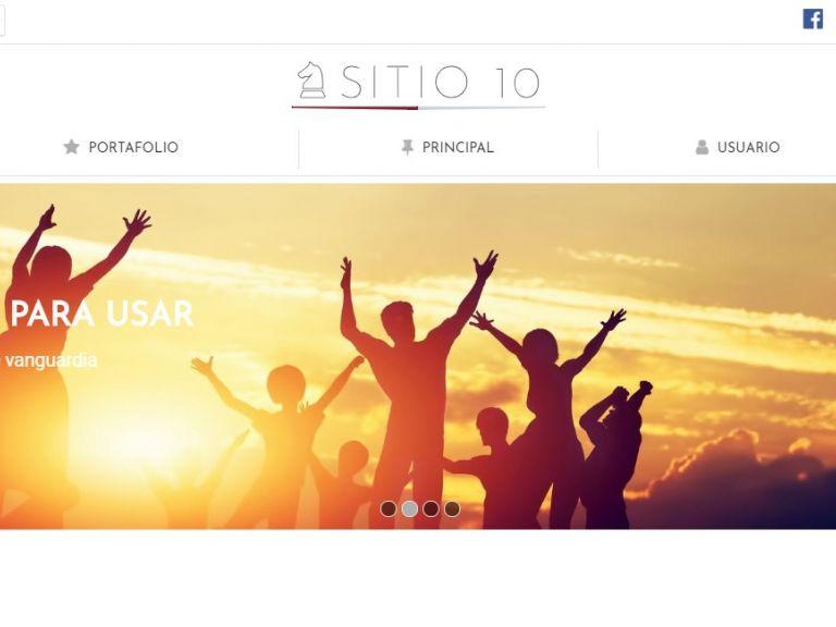 Template de diseño de página institucional. - INSTITUCIONAL 10 . Diseño sitio web institucional