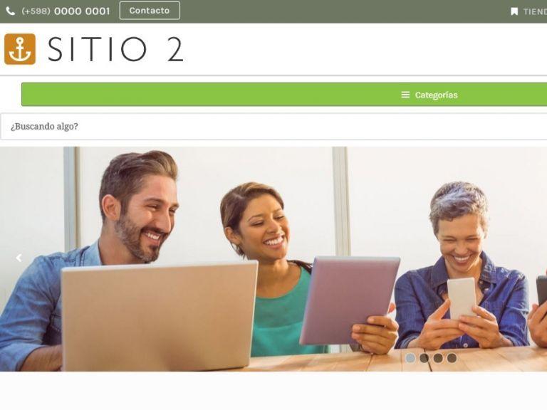 Diseño de sitio web de tienda de productos, ejemplo de plantilla para su nueva web. - TIENDA 2 . tienda virtual